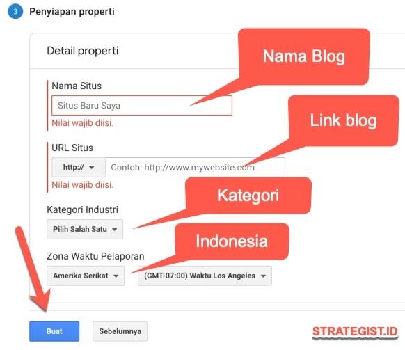 property google analytics