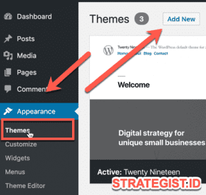 Cara Instal Theme Wordpress Manual dari Directory dan Upload File 4