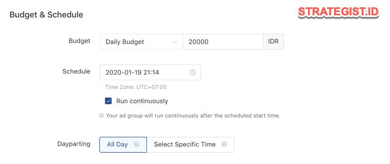 budget iklan tiktok