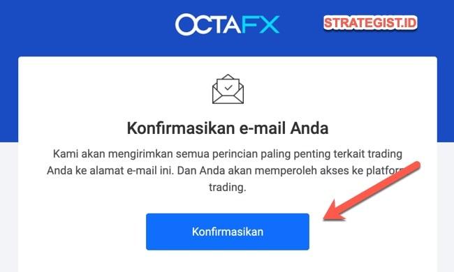 konfirmasi email octafx