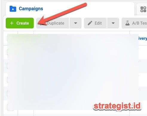 tombol create ads iklan fb