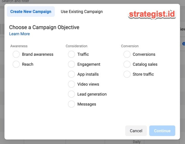 objective campaign fb ads