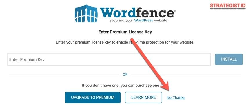 lisensi key wordfence