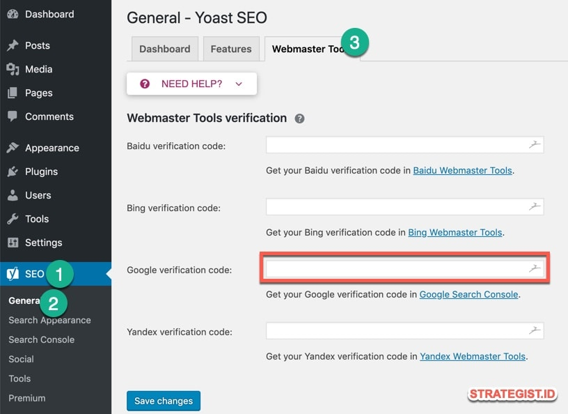 Webmaster yoast