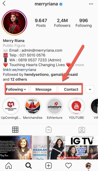akun instagram bisnis
