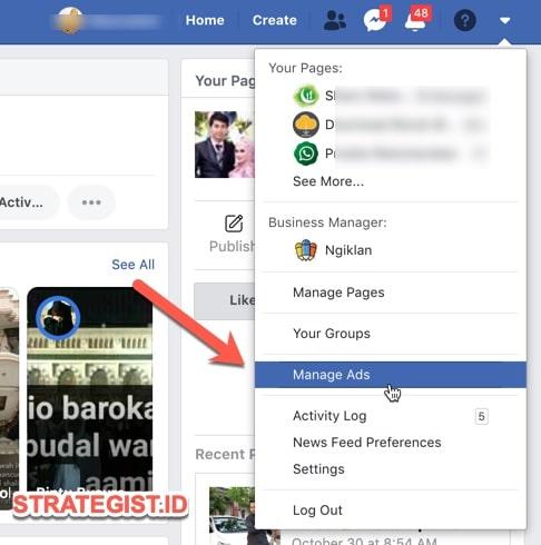manage ads facebook